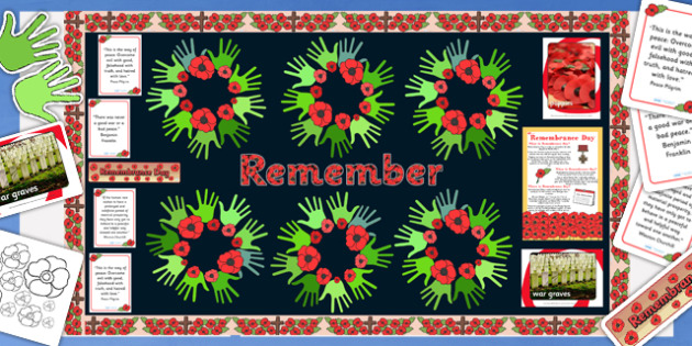 Ready Made Remembrance Day Display Pack - pack, remembrance day