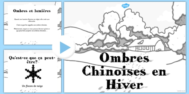 Ombres Chinoises en Hiver PowerPoint French - french, winter, themed, shadow, powerpoint, activity