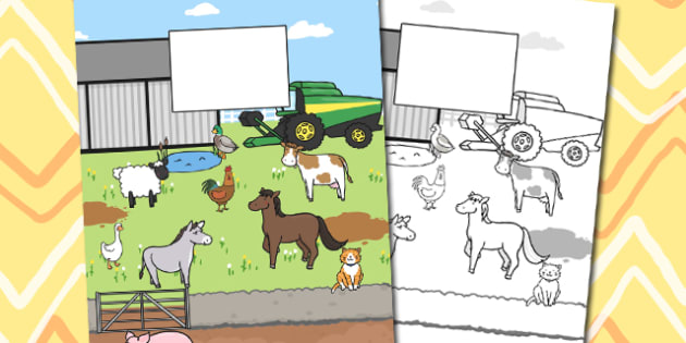 Farm Themed Calendar Template - farm, calendar, template, year