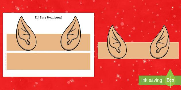 Elf Ears Headband - elf, santa, christmas, xmas, festive, elves