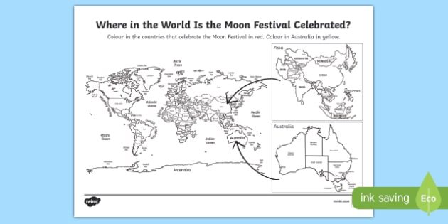 Moon Festival Colouring Pages