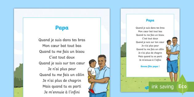 Poème Papa La Fête Des Pères Cycle 3cycle 2 Ks2