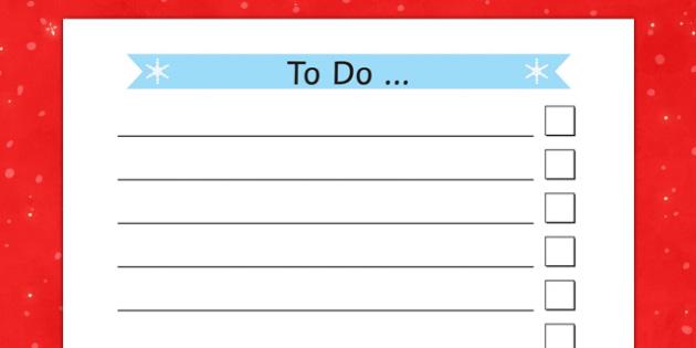christmas themed to do list christmas themed to do list to