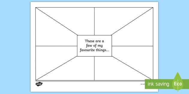 These Are A Few Of My Favourite Things Worksheet Activity