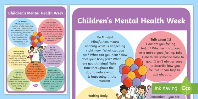 Childrens Mental Health Week A4 Display Poster