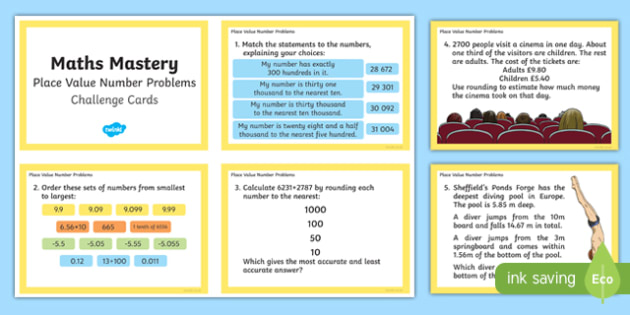 Year 6 Place Value Number Problems Maths Mastery Challenge