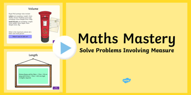 Year 5 Measurement Solve Problems Involving Measure Maths Mastery PowerPoint