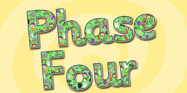 Phase Four Display Lettering-phase four, display lettering, themed display lettering, phase four display, lettering for display, phase 4