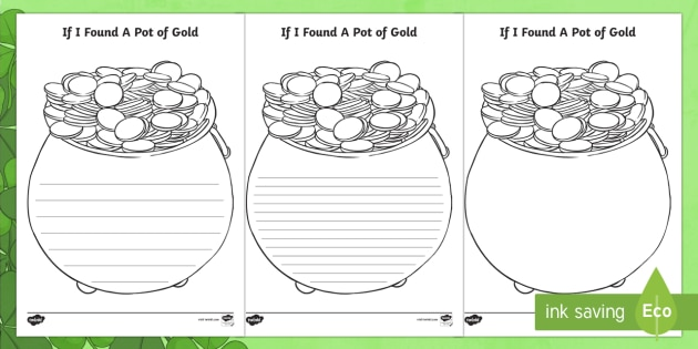 template for pot of gold
