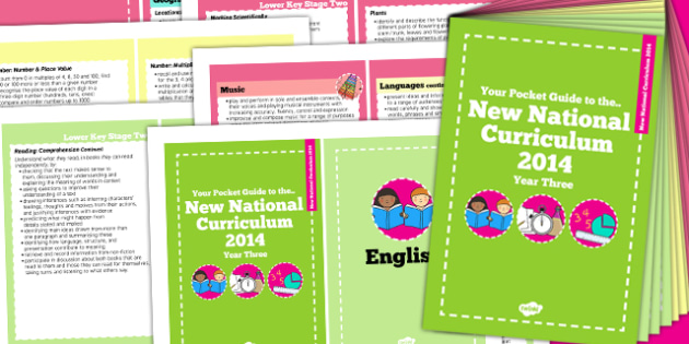 2014 Curriculum Cards Year 3 Core And Foundation Subjects