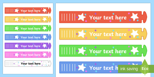 graphic about Printable Wristband Template titled Free of charge! - Wristband Awards (Editable) - editable, wristband