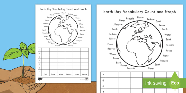 New earth day vocabulary count and graph activity sheet new earth day vocabulary count and graph activity sheet world planet ccuart Gallery