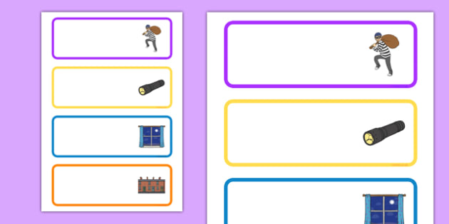 Burglar Editable Drawer Peg Name Labels - burglar bill, burglar, editable, drawer, peg, name, labels