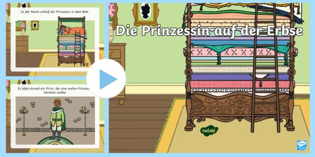 Die Prinzessin Auf Der Erbse Powerpoint Prasentation Marchenbuch