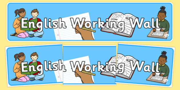 English Working Wall Banner - english working wall banner, english wall banner, english display banner, english working wall display banner