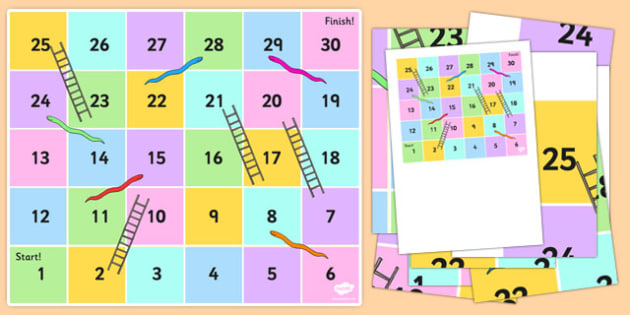 Snakes and Ladders Bee-Bot Mat - snake, ladder, game, play