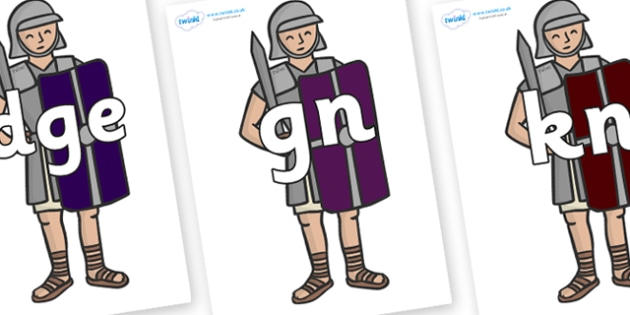 Silent Letters on Roman Soldiers - Silent Letters, silent letter, letter blend, consonant, consonants, digraph, trigraph, A-Z letters, literacy, alphabet, letters, alternative sounds
