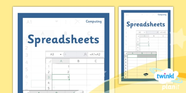 Computing: Excel Spreadsheets Year 6 Unit Book Cover