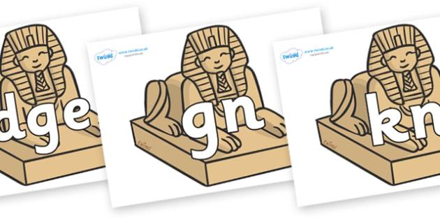 Silent Letters on Sphinx - Silent Letters, silent letter, letter blend, consonant, consonants, digraph, trigraph, A-Z letters, literacy, alphabet, letters, alternative sounds