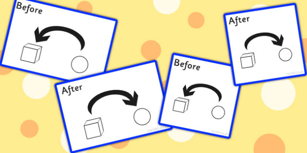 Before And After Preposition Symbol Visual Support Cards