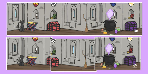 Witches and Wizards Themed Small World Background - witches and wizards, small world background