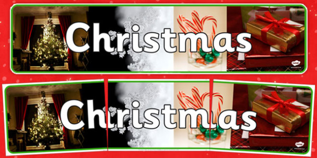 Christmas Photo Display Banner - christmas, photo display banner, photo, display banner, banner, banner for display, themed banner, photo banner
