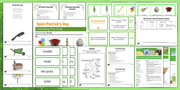 Elderly Care St. Patrick's Day Resource Pack - st, patricks, ireland, saint, day, special, event, irish, green, nursing, home, elderly, care, adult, education