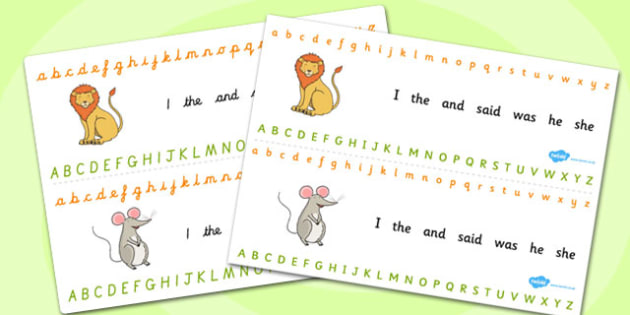 The Lion And The Mouse Alphabet Strips - alphabet strips, lion