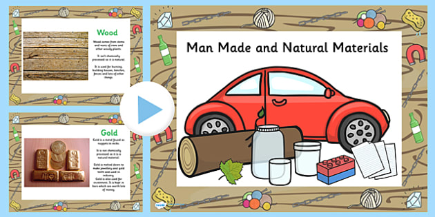 Natural and Manmade Materials PowerPoint - natural, manmade, man made, materials, powerpoint, information powerpoint, discussion prompt, class discussion
