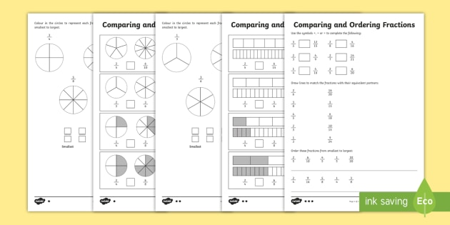 New  Comparing And Ordering Fractions Differentiated Worksheets New  Comparing And Ordering Fractions Differentiated Worksheets   Equivalent Fractions Ordering Fractions