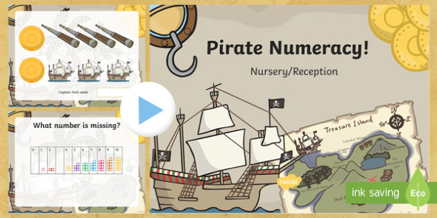 Pirate Numeracy Starter PowerPoint - Pirate Resources, Welsh Second Language, Number Skills,Welsh