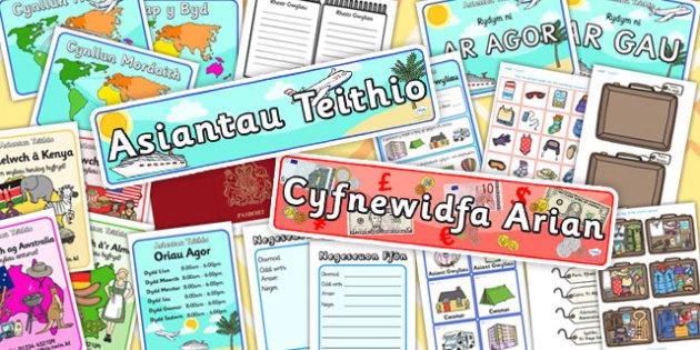 Pecyn Chwarae Rôl 'Asiantaeth Deithio' - roleplay, languages