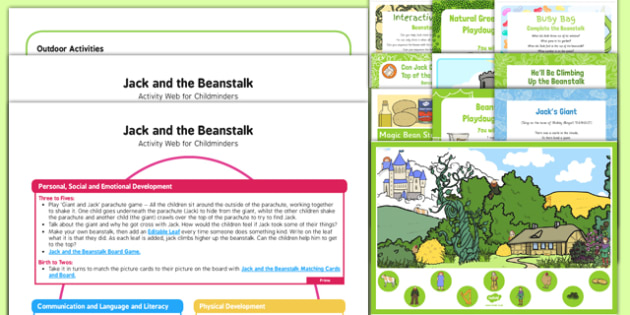 Childminder Jack and the Beanstalk Activity Web and Resource Pack - EYFS