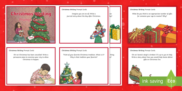 Christmas Writing Prompts.Christmas Writing Prompts Task Cards Point Of View