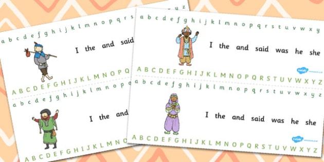 Dick Whittington Alphabet Strips - Dick, Whittington, Alphabet