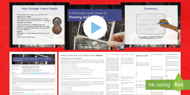 A Christmas Carol Lesson 12: Poverty and the Poor – Stave Three