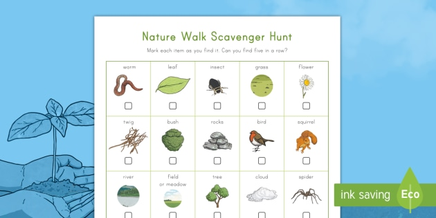 Nature Walk Scavenger Hunt - Earth Day, nature, wind, grass, trees, flowers, insects, dirt, scavenger hunt, nature walk, dew, riv