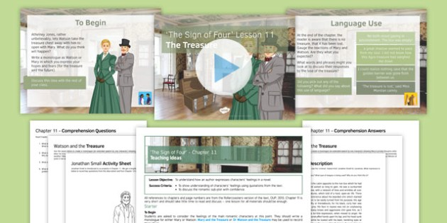 The Sign of Four Lesson Pack 11: The Treasure - English Literature, AQA, GCSE, Heritage Prose, Arthur Conan Doyle, Sherlock Holmes, Reading