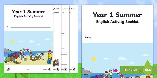 Year 1 Summer English Activity Booklet - summer, year 1, ks1, activity book, activity booklet, end of term, holidays, holiday, reading, writi