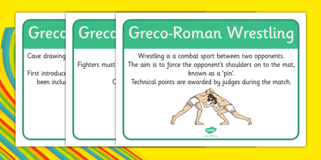 Rio 2016 Olympics Greco-Roman Wrestling Display Facts - rio 2016, riol olympics, 2016 olympics, greco-roman wrestling, display facts