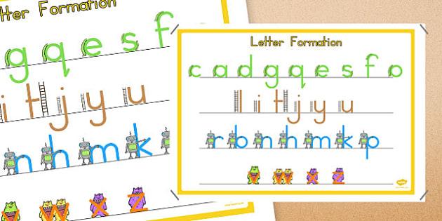 Large Letter Formation Poster - letter, formation, poster, large