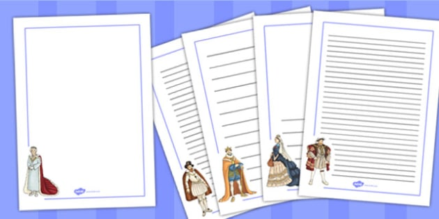 Significant British Monarchs Page Borders - page, border, british