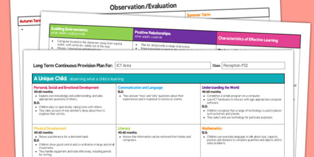 ICT Area Editable Continuous Provision Plan Reception FS2 - continuous
