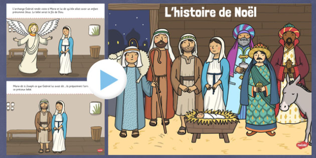 The Nativity Christmas Story PowerPoint French - french, nativity, christmas story, powerpoint