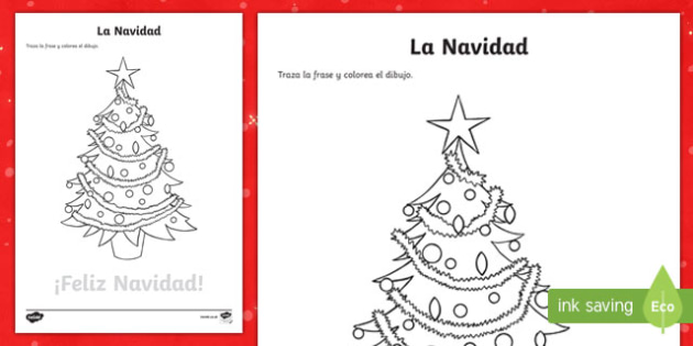 Merry Christmas Trace and Colour Worksheet / Worksheet