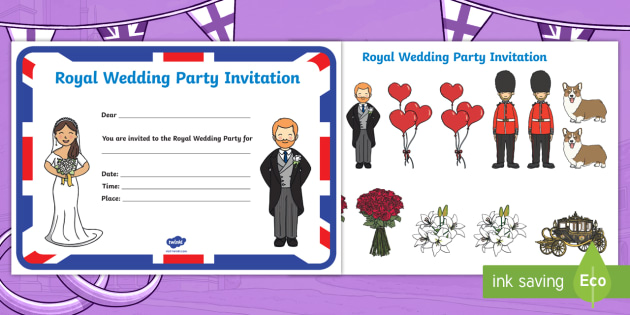 Royal Wedding Party Invitation Activity Prince Harry And Meghan Markle