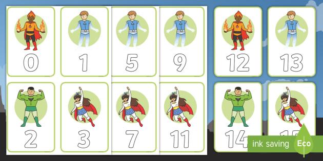 Superhero Numbers 0-100 Cards - Superheroes Numeracy Primary Resources,  Superheroes, Numeracy