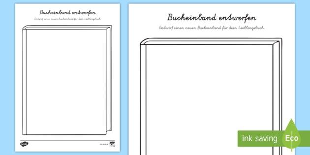 NEW * Bucheinband entwerfen Arbeitsblatt - Welttag des Buches