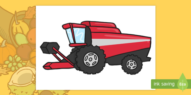 Big Red Combine Harvester Cut-Outs