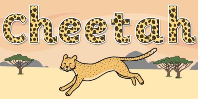 'Cheetah' Display Lettering - safari, safari lettering, safari display lettering, safari display words, cheetah display lettering, cheetah letters, cheetah